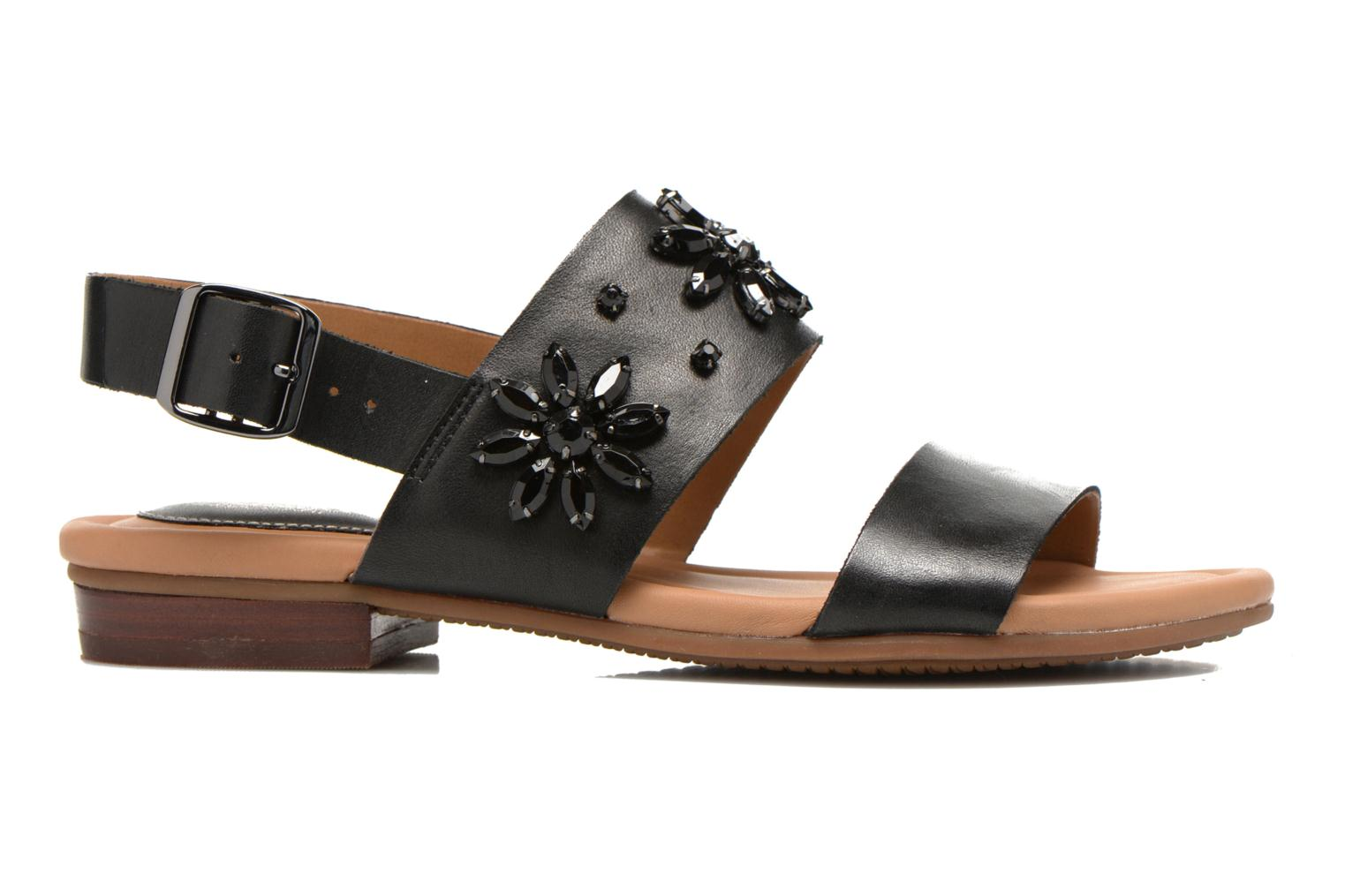 Sandals Clarks Viveca Melrose Black back view