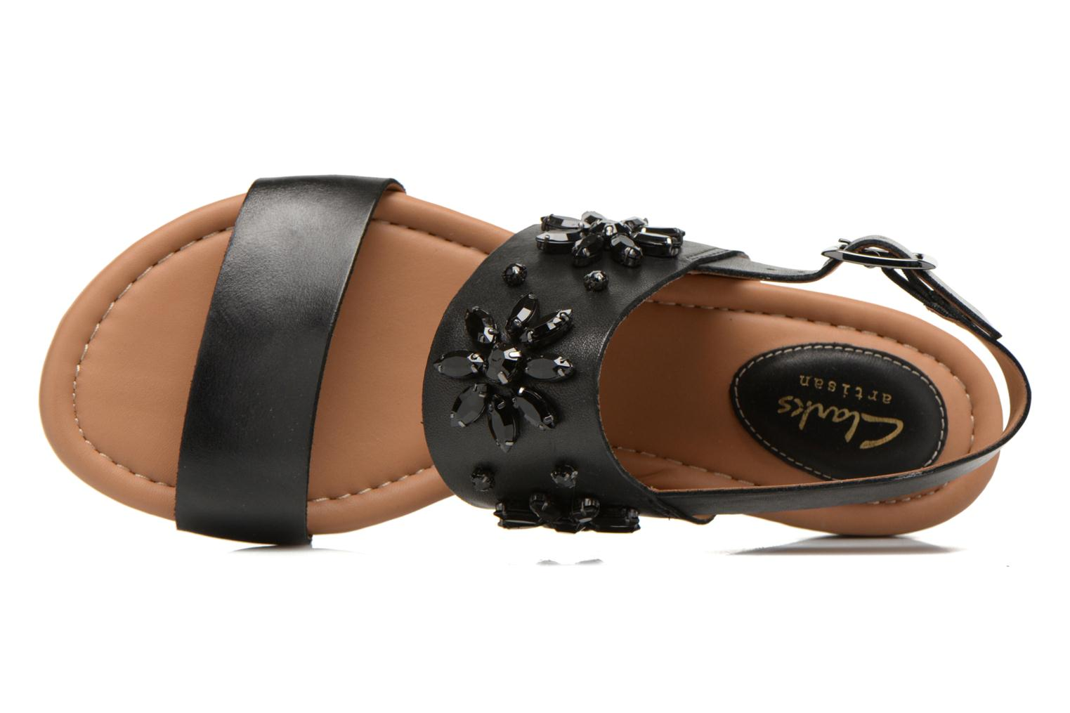 Sandals Clarks Viveca Melrose Black view from the left