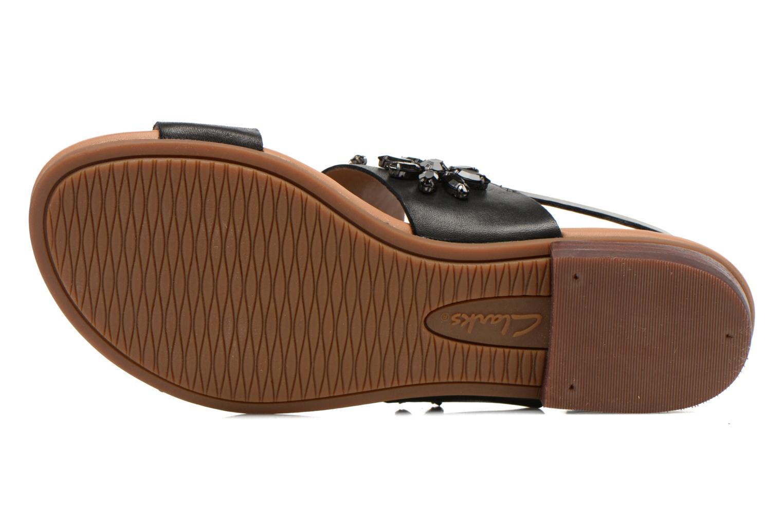 Sandali e scarpe aperte Clarks Viveca Melrose Nero immagine dall'alto