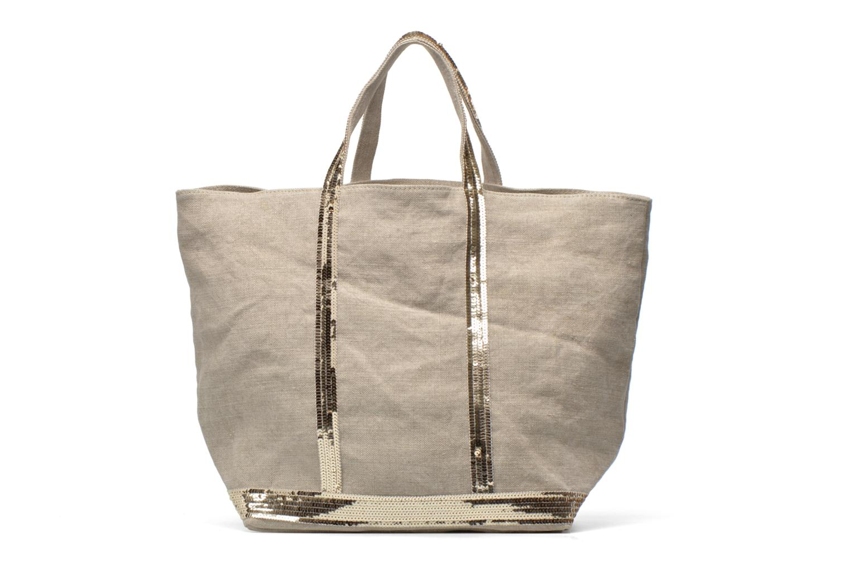 Handbags Vanessa Bruno Cabas Lin paillettes M+ Beige front view