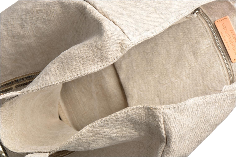 Håndtasker Vanessa Bruno Cabas Lin paillettes M+ Beige se bagfra
