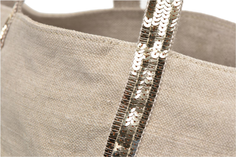 Handtaschen Vanessa Bruno Cabas Lin paillettes M+ beige ansicht von links