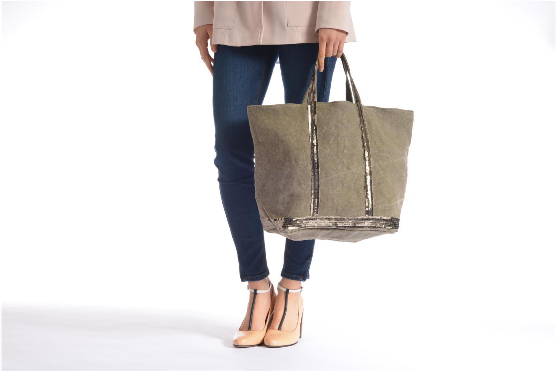 Handtaschen Vanessa Bruno Cabas Lin paillettes M+ beige ansicht von oben