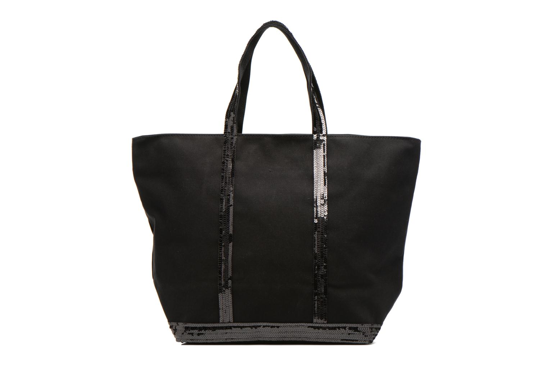 Handbags Vanessa Bruno Cabas Coton M+ Zip Black front view