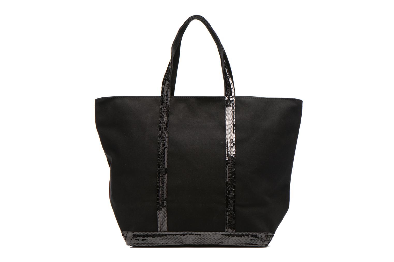 Handtaschen Vanessa Bruno Cabas Coton M+ Zip schwarz ansicht von vorne