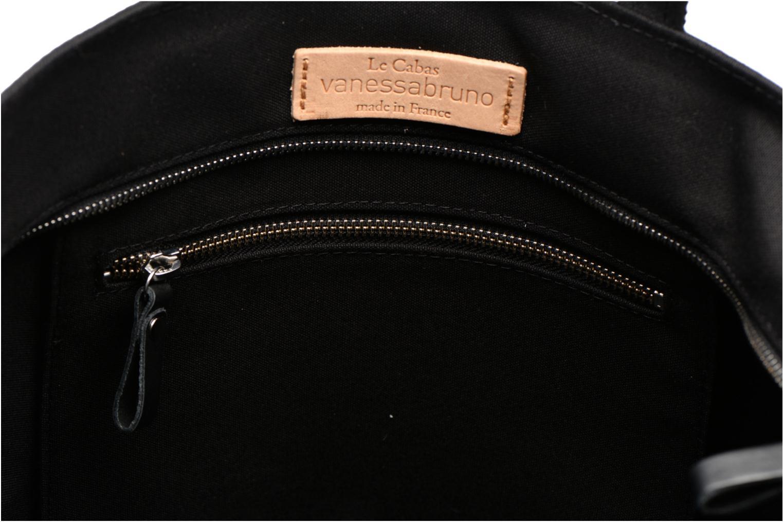 Handtaschen Vanessa Bruno Cabas Coton M+ Zip schwarz ansicht von hinten