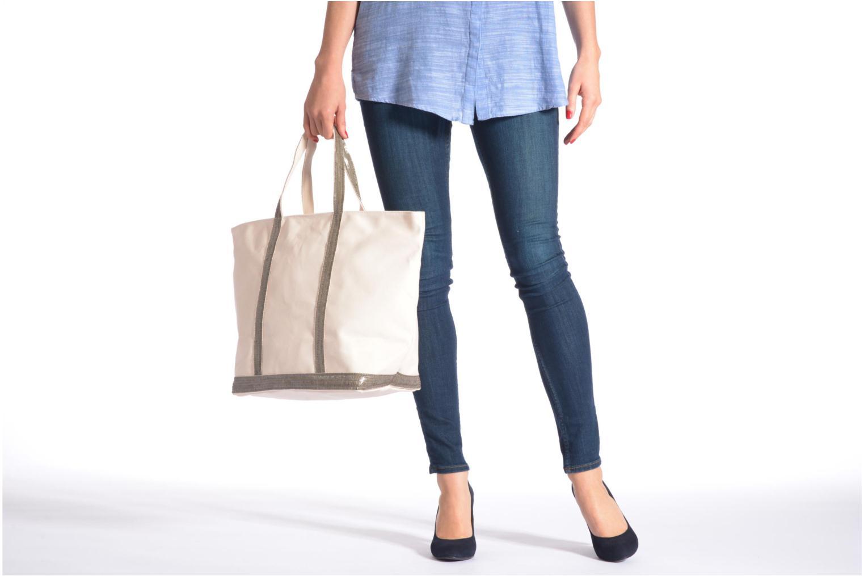 Handtaschen Vanessa Bruno Cabas Coton M+ Zip schwarz ansicht von oben