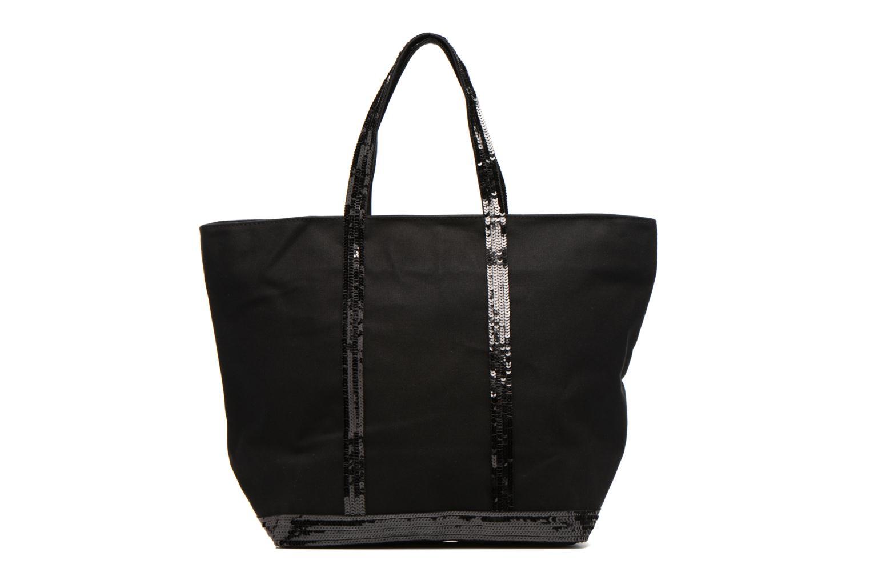 Sacs à main Vanessa Bruno Cabas Coton M+ Zip Noir vue détail/paire