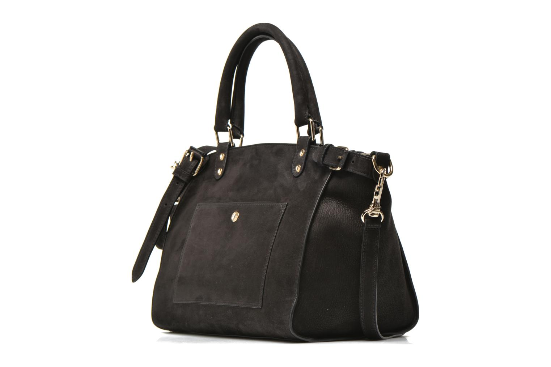 Handtassen Vanessa Bruno Eclipse M cuir nubucké Zwart model