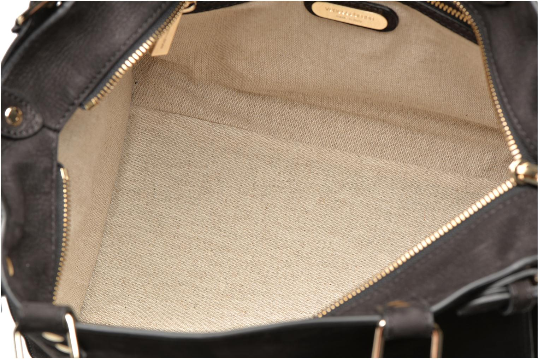 Handtassen Vanessa Bruno Eclipse M cuir nubucké Zwart achterkant