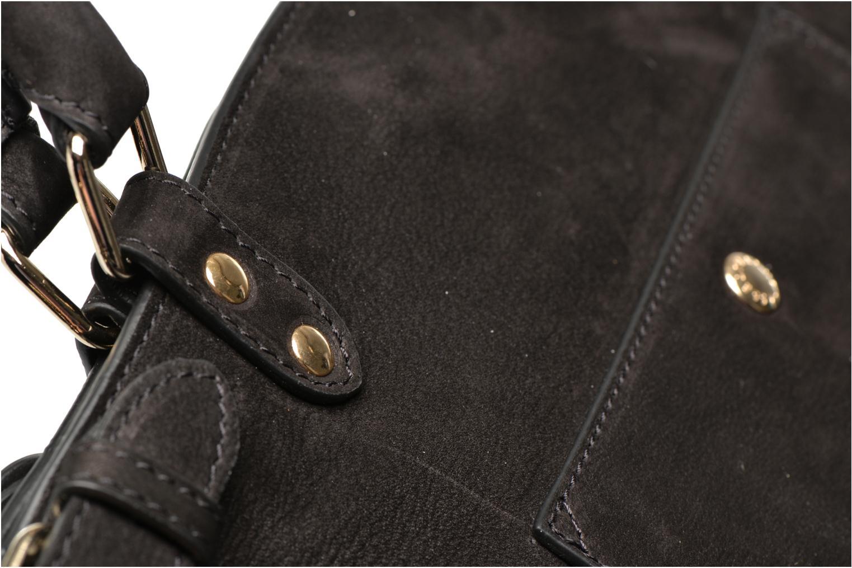 Handväskor Vanessa Bruno Eclipse M cuir nubucké Svart bild från vänster sidan