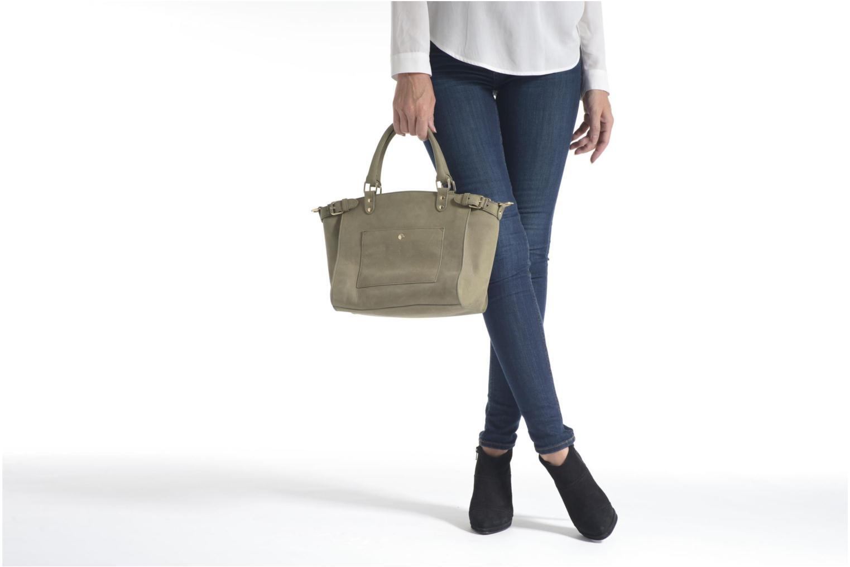 Handtaschen Vanessa Bruno Eclipse M cuir nubucké schwarz ansicht von oben
