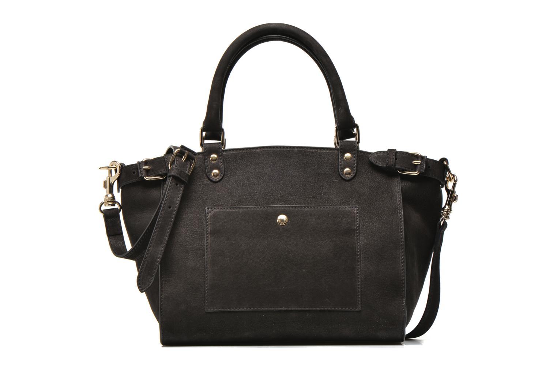 Handtassen Vanessa Bruno Eclipse M cuir nubucké Zwart detail