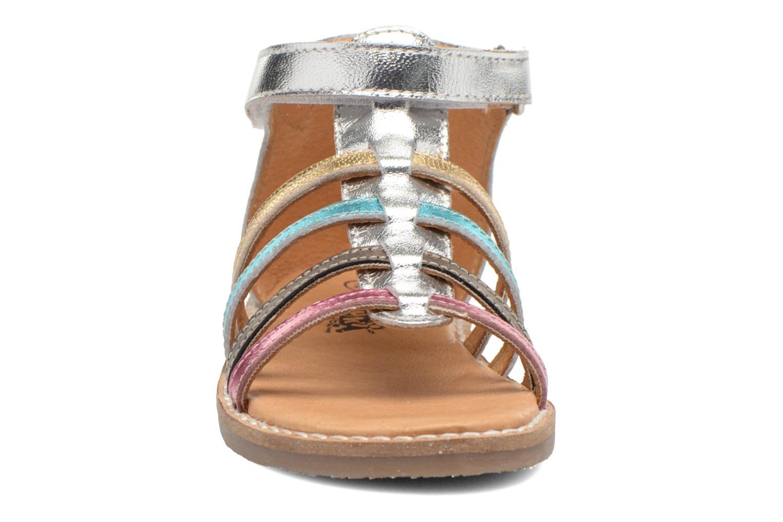 Sandales et nu-pieds Bopy Hamio kouki Argent vue portées chaussures