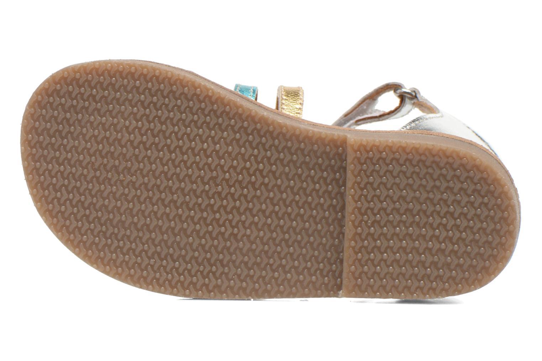 Sandales et nu-pieds Bopy Hamio kouki Argent vue haut