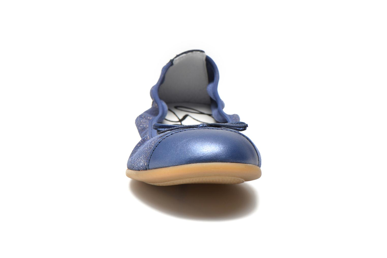 Ballerines Bopy Sibylle Bleu vue portées chaussures