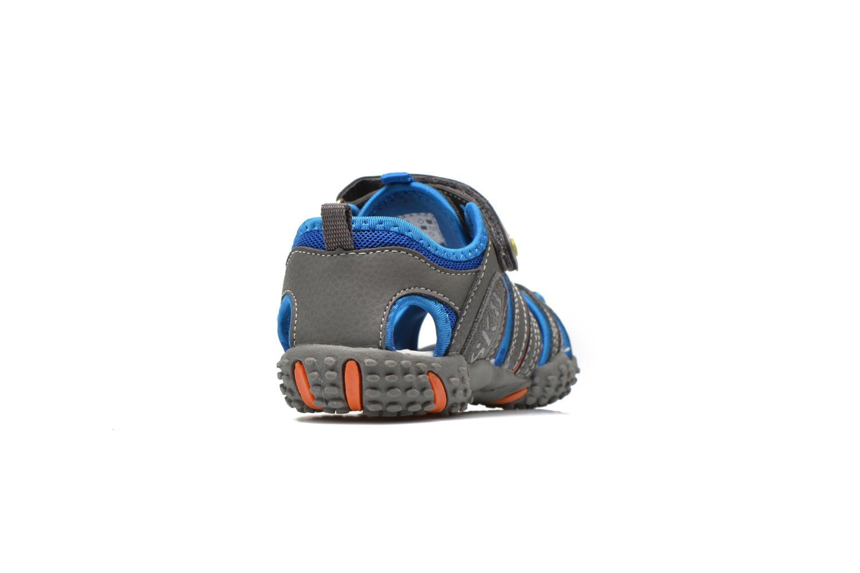 Sandales et nu-pieds Bopy Tiporal Gris vue droite