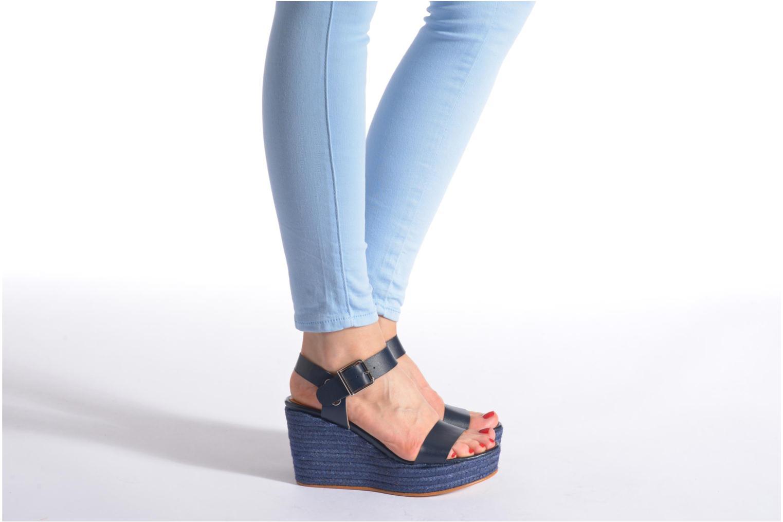 Sandalen Made by SARENZA Menthe Hello #18 blau ansicht von unten / tasche getragen