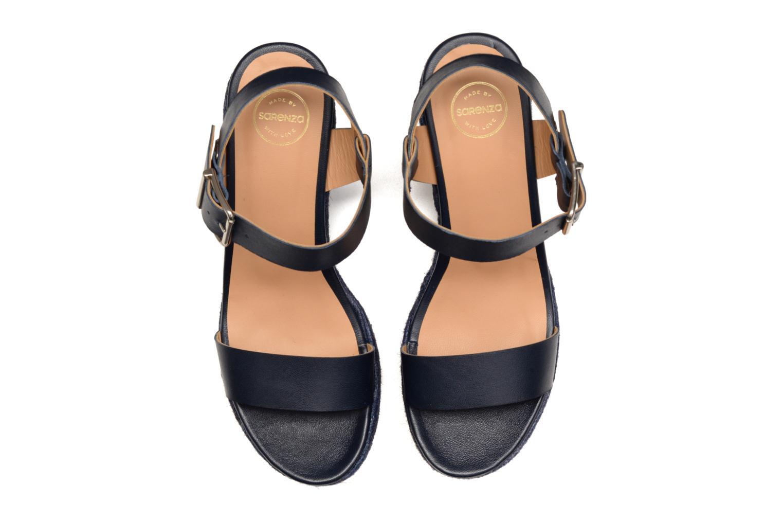 Sandalen Made by SARENZA Menthe Hello #18 blau schuhe getragen