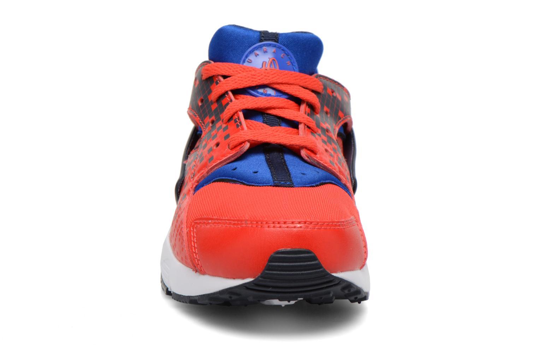 Sneaker Nike Nike Huarache Run Print (Ps) rot schuhe getragen