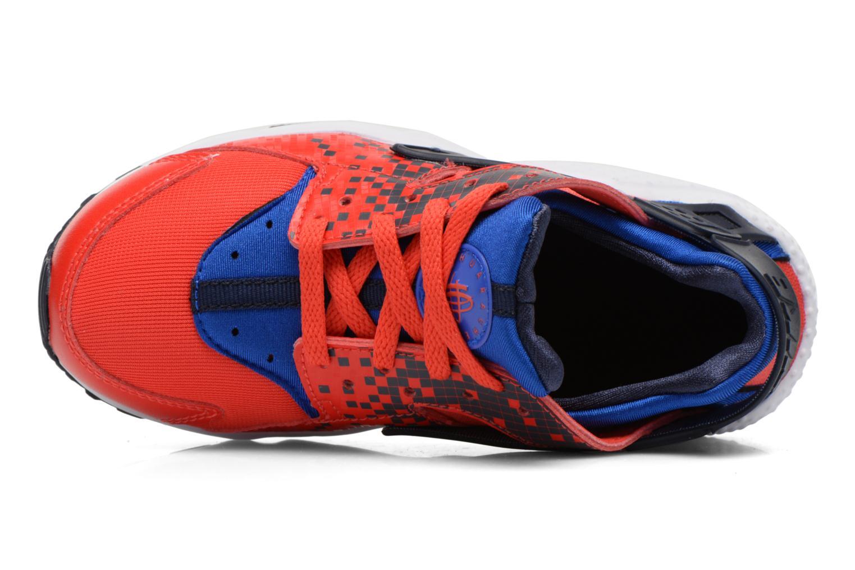 Deportivas Nike Nike Huarache Run Print (Ps) Rojo vista lateral izquierda