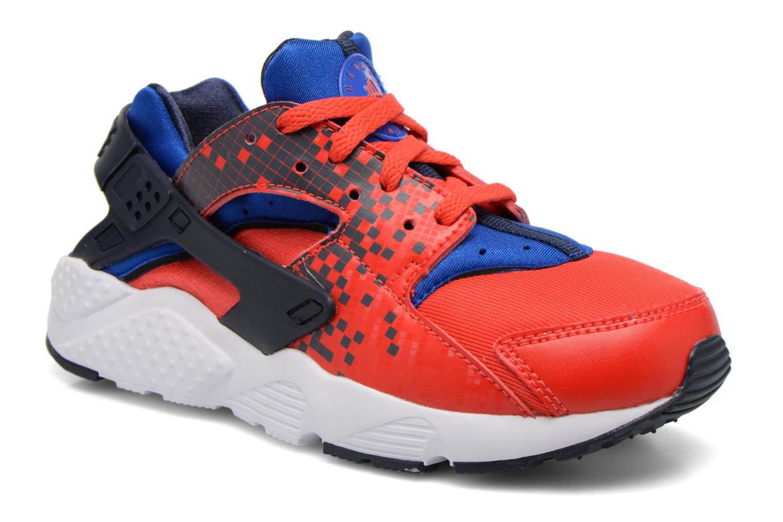 Nike Huarache Run Print (Ps) Lt Crimson/Obsidian-Rcr Bl-Wht
