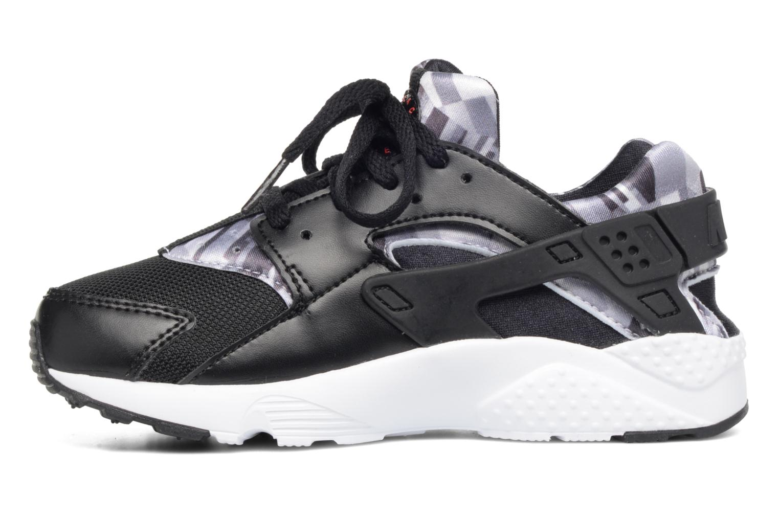 Baskets Nike Nike Huarache Run Print (Ps) Noir vue face