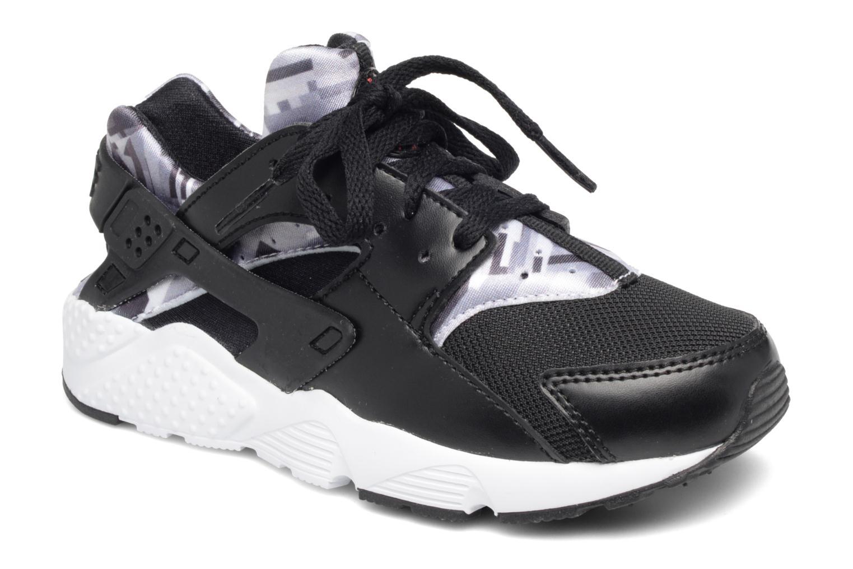 Nike Huarache Run Print (Ps) Black/Gym Red-Black-White