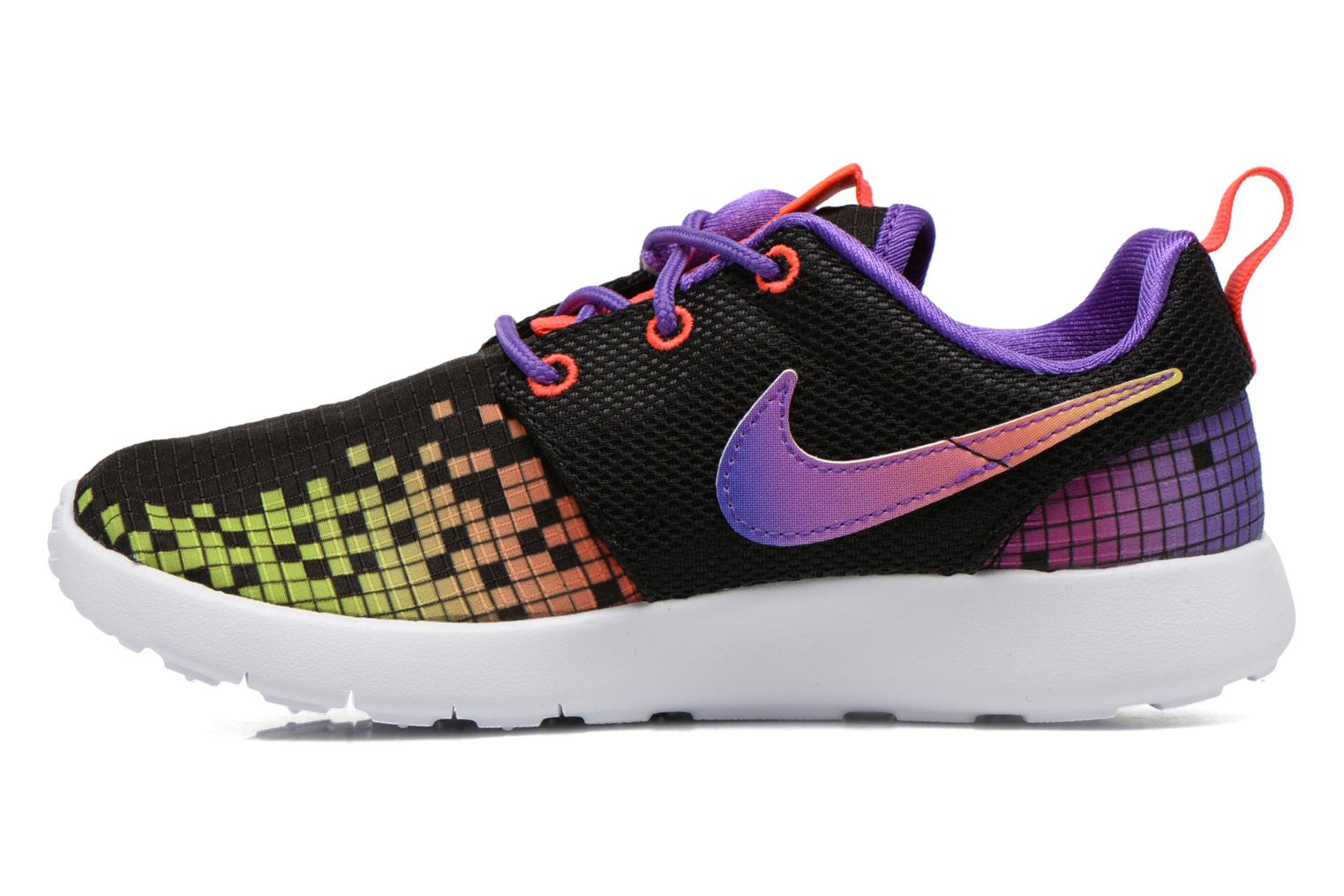 Roshe One Print (Ps) Black/White-Hyper Violet-Volt
