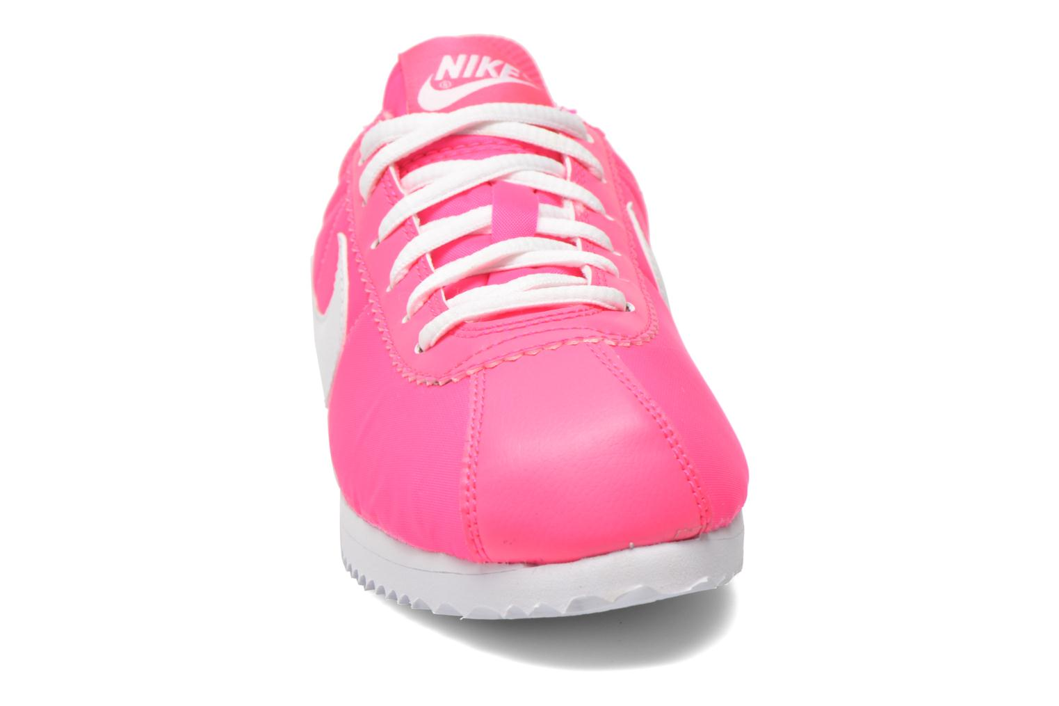 Trainers Nike Cortez Nylon (Gs) Pink model view
