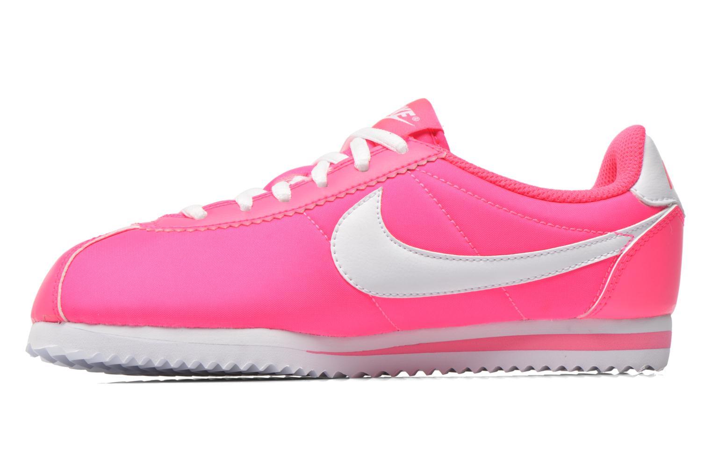 Baskets Nike Cortez Nylon (Gs) Rose vue face