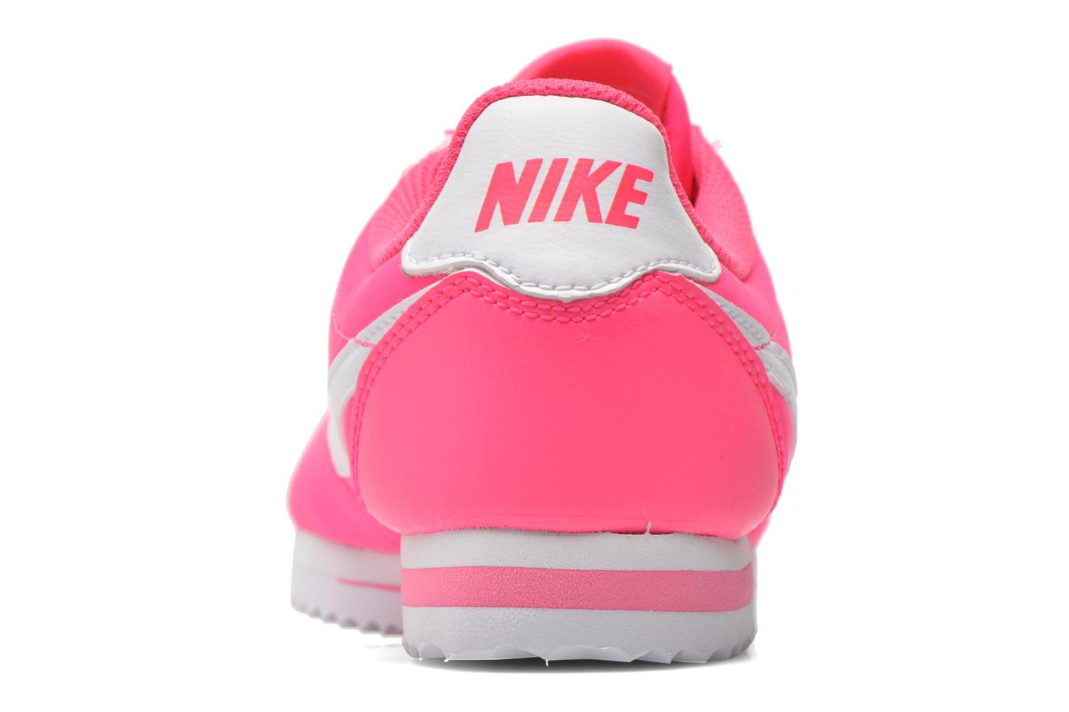 Trainers Nike Cortez Nylon (Gs) Pink view from the right