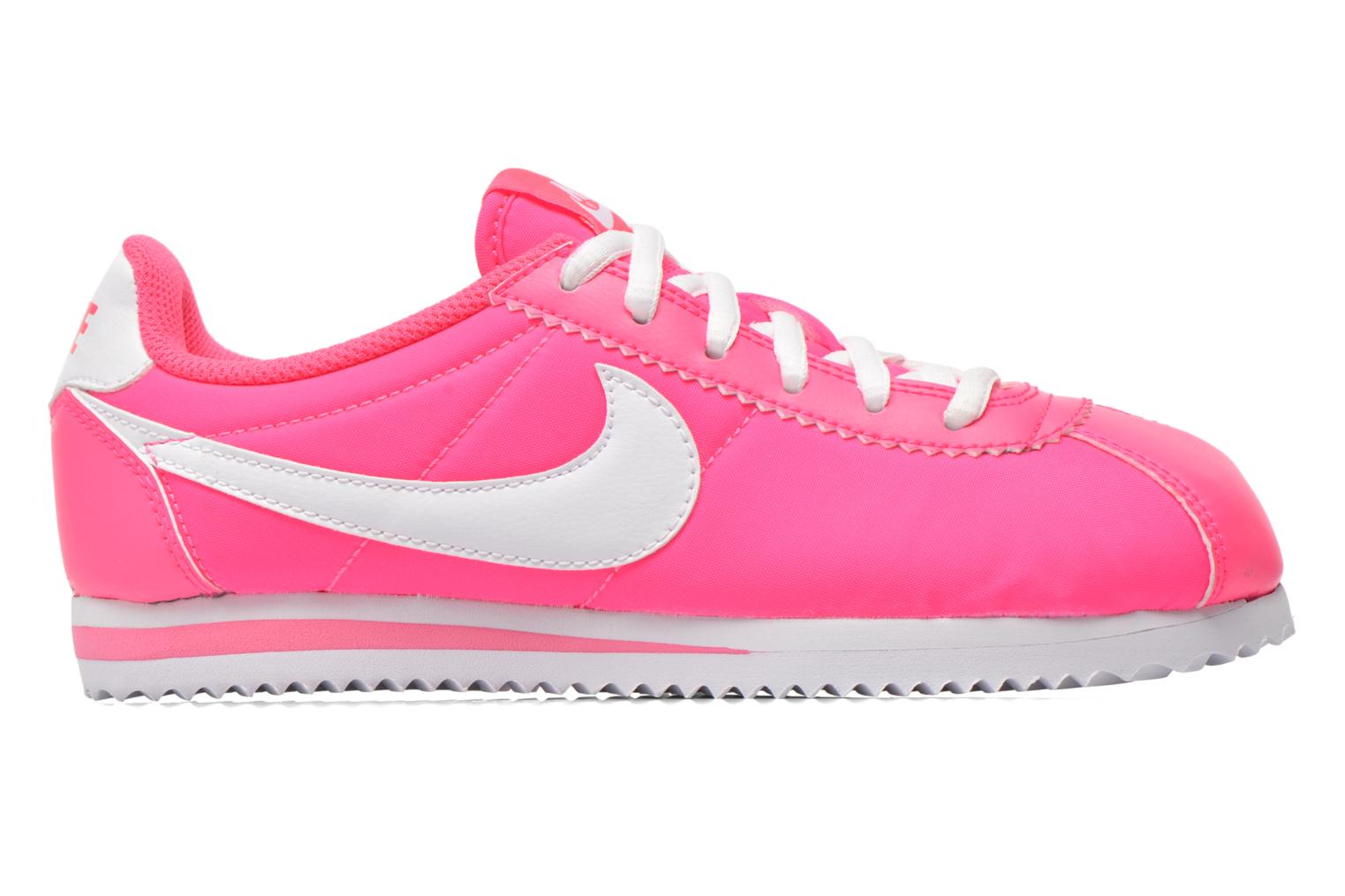 Trainers Nike Cortez Nylon (Gs) Pink back view