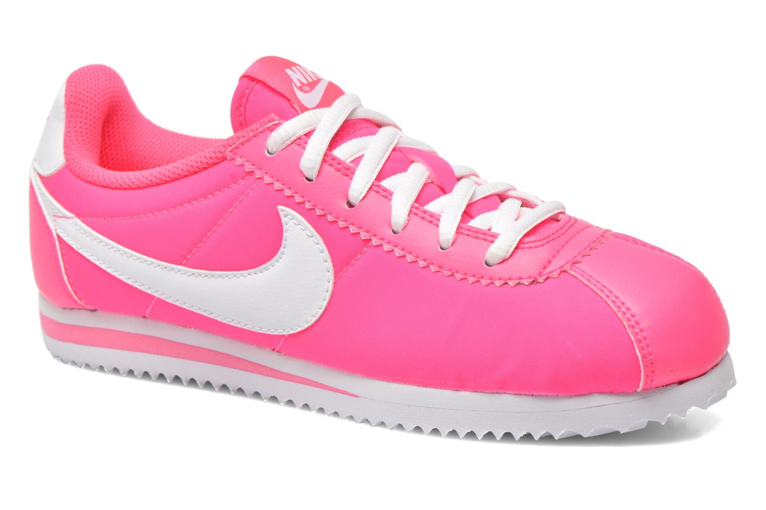 Trainers Nike Cortez Nylon (Gs) Pink detailed view/ Pair view