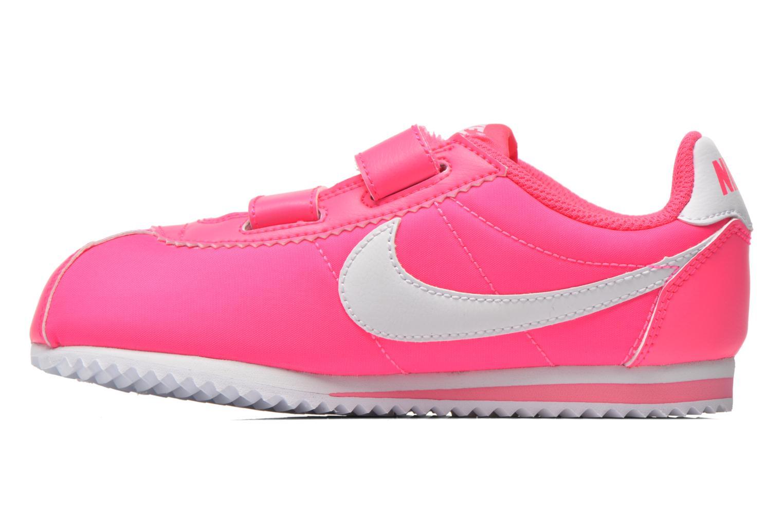 Deportivas Nike Cortez Nylon (Psv) Rosa vista de frente