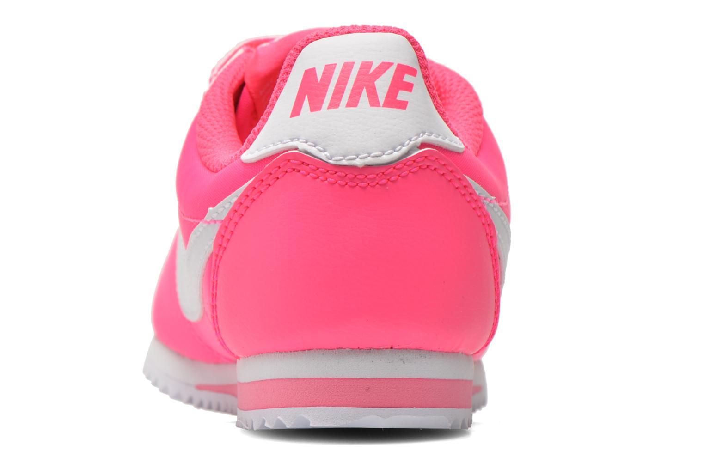 Deportivas Nike Cortez Nylon (Psv) Rosa vista lateral derecha