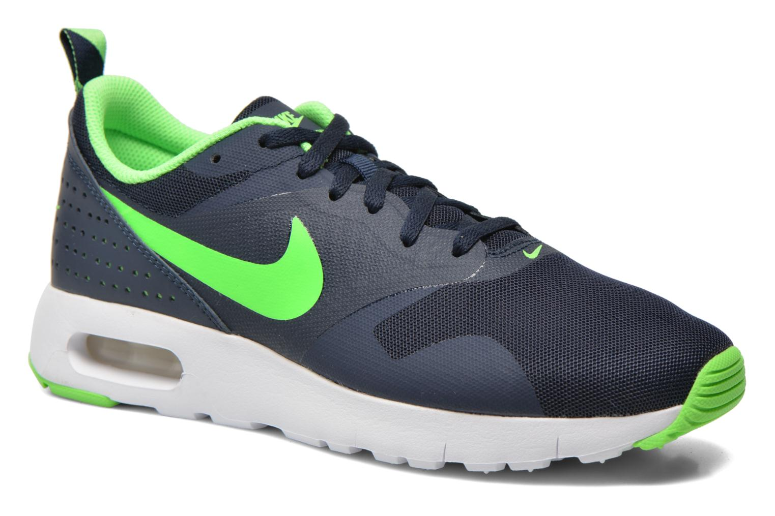Obsidian/Voltage Green-White Nike Air Max Tavas (Gs) (Bleu)