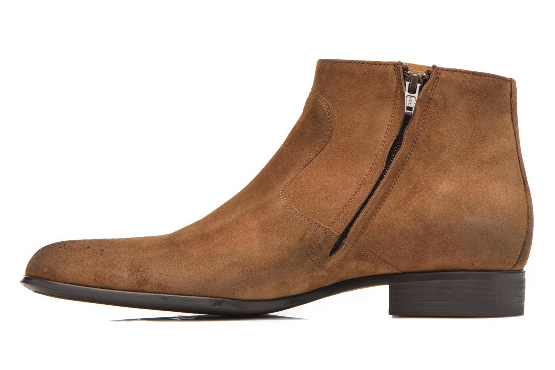Boots en enkellaarsjes Jean-Baptiste Rautureau Rija Boots perfo Bruin voorkant
