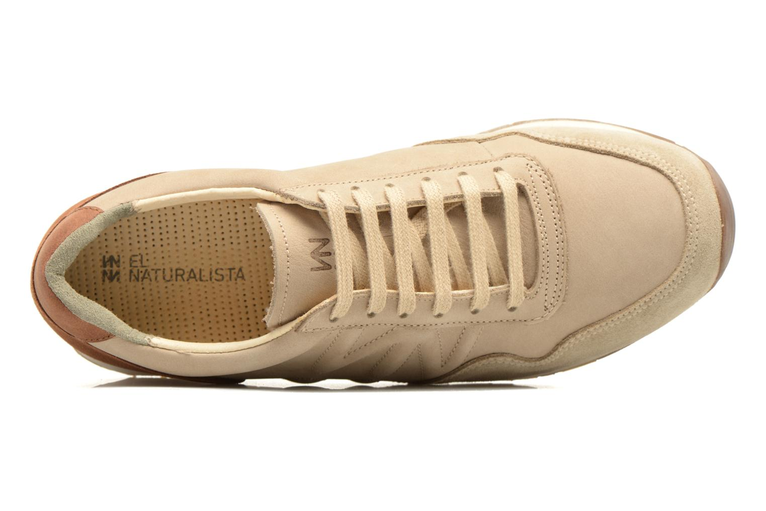 Trainers El Naturalista Walky ND90 Beige view from the left