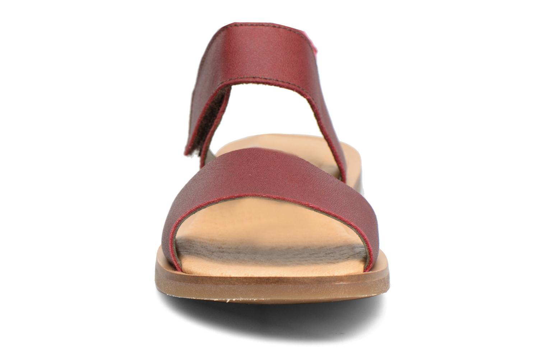 Sandales et nu-pieds El Naturalista Tulip NF30 Bordeaux vue portées chaussures