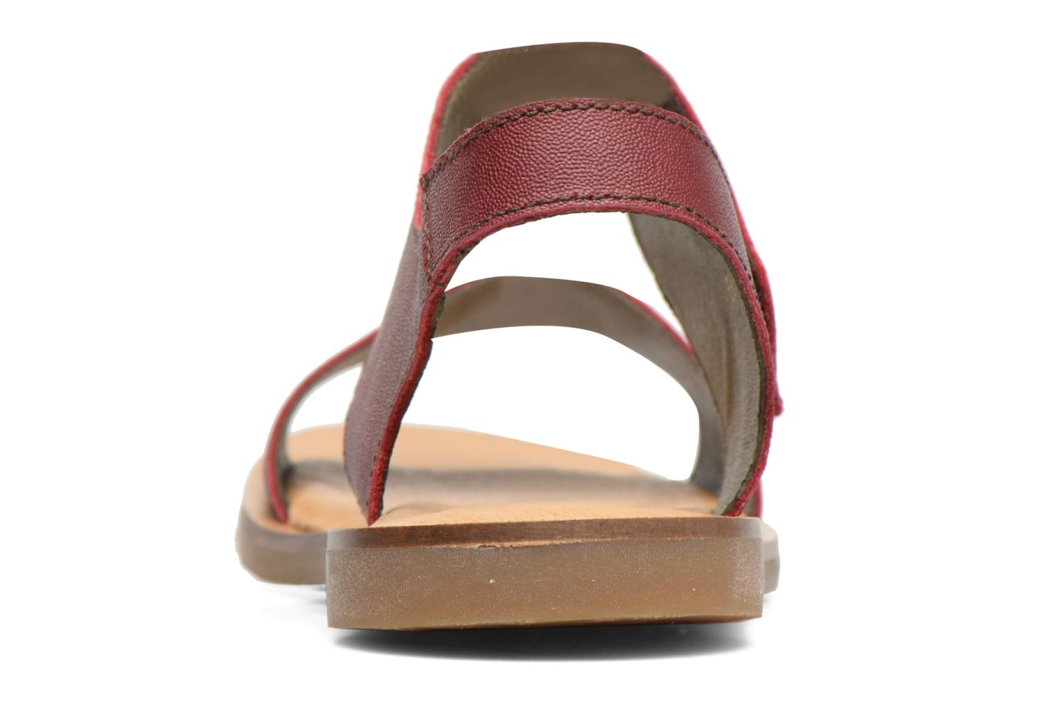 Sandals El Naturalista Tulip NF30 Burgundy view from the right
