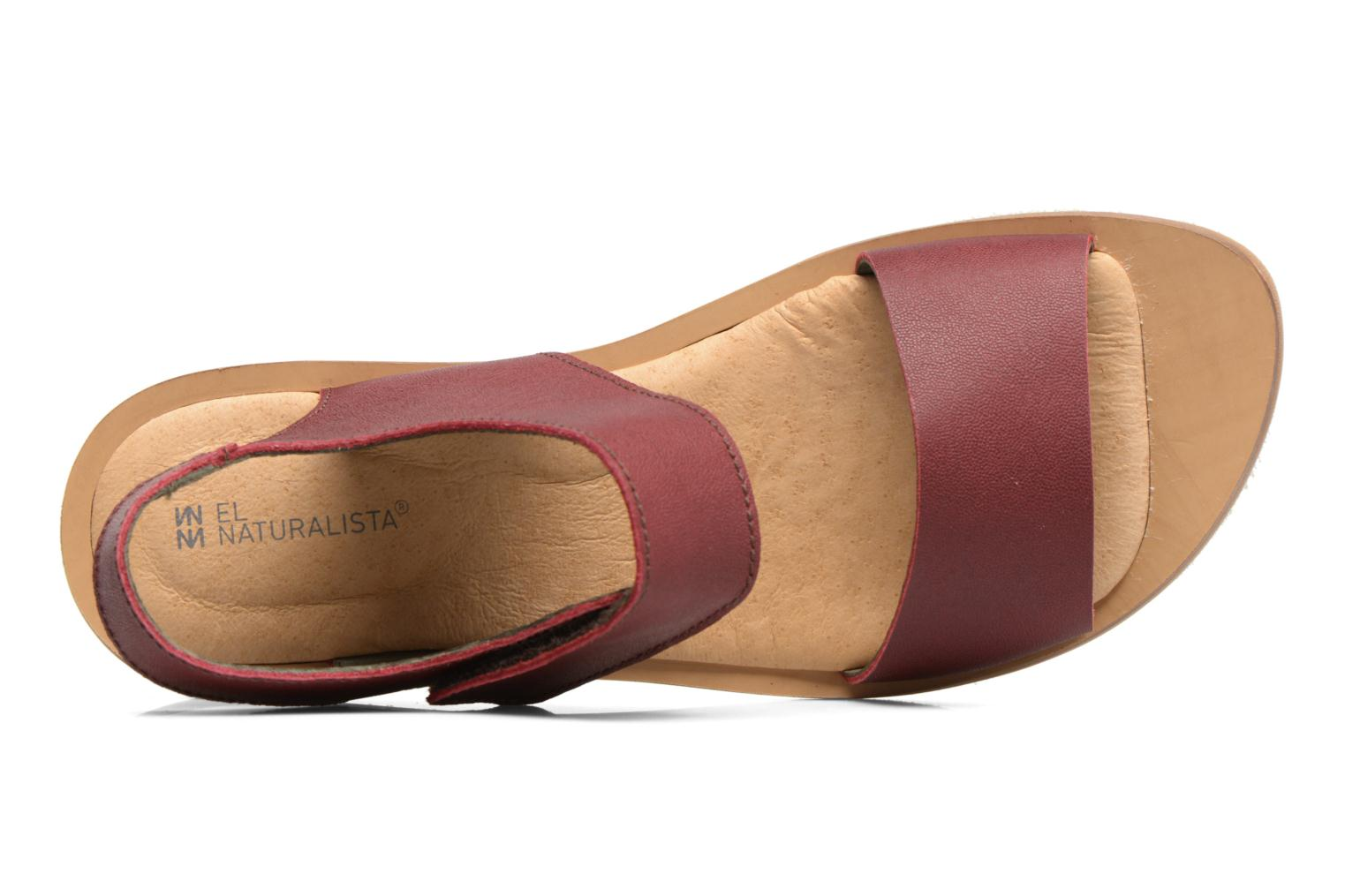 Sandals El Naturalista Tulip NF30 Burgundy view from the left