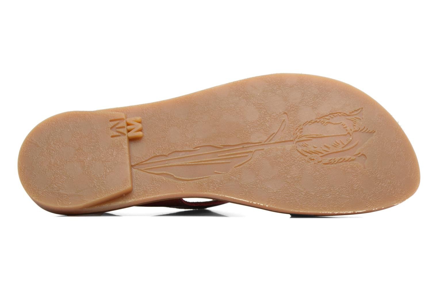 Sandals El Naturalista Tulip NF30 Burgundy view from above