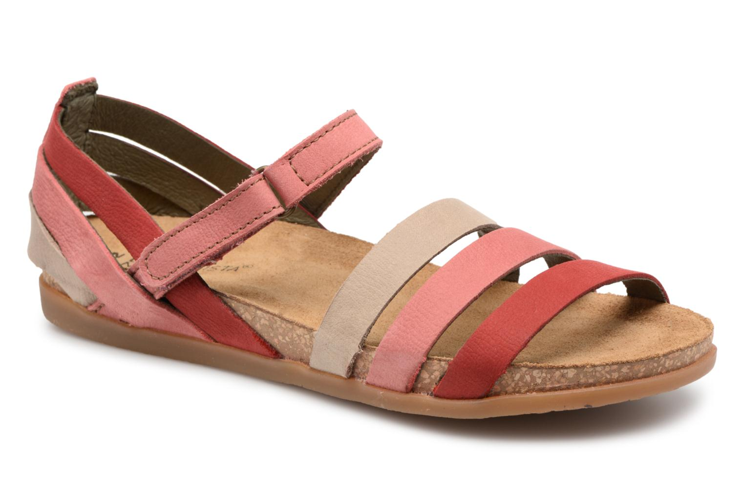 Sandals El Naturalista Zumaia NF42 Red detailed view/ Pair view
