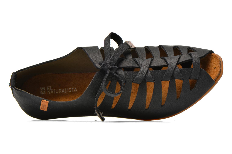 Zapatos con cordones El Naturalista Stella ND52 Negro vista lateral izquierda