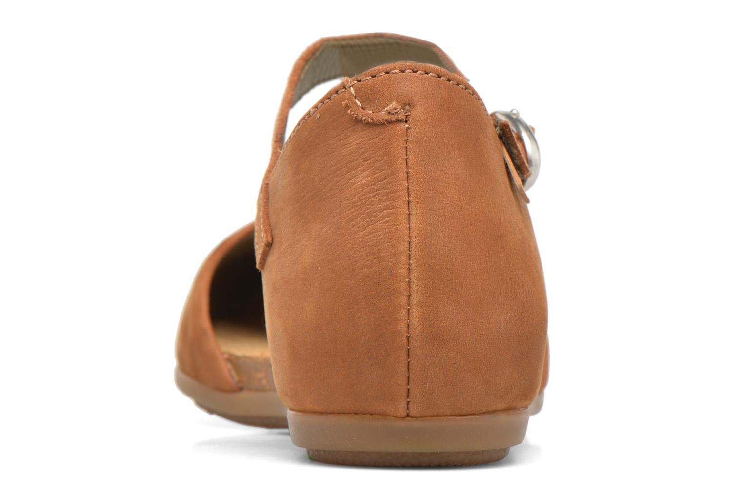 Ballet pumps El Naturalista Stella ND54 Brown view from the right