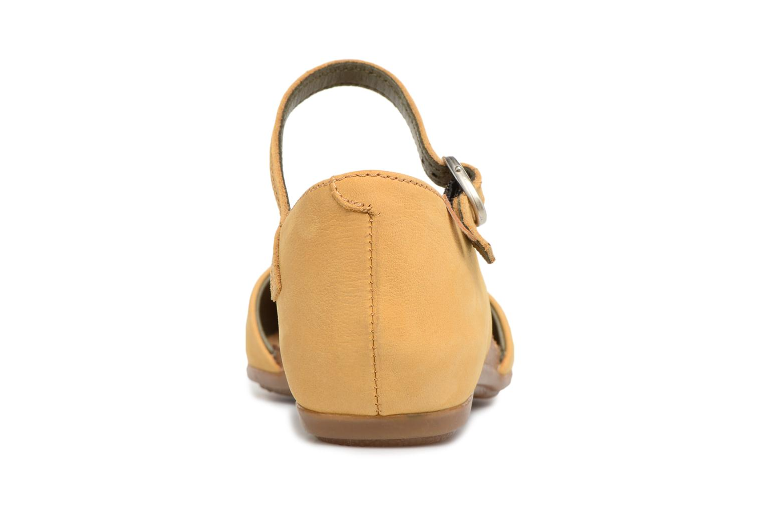 Ballet pumps El Naturalista Stella ND54 Yellow view from the right