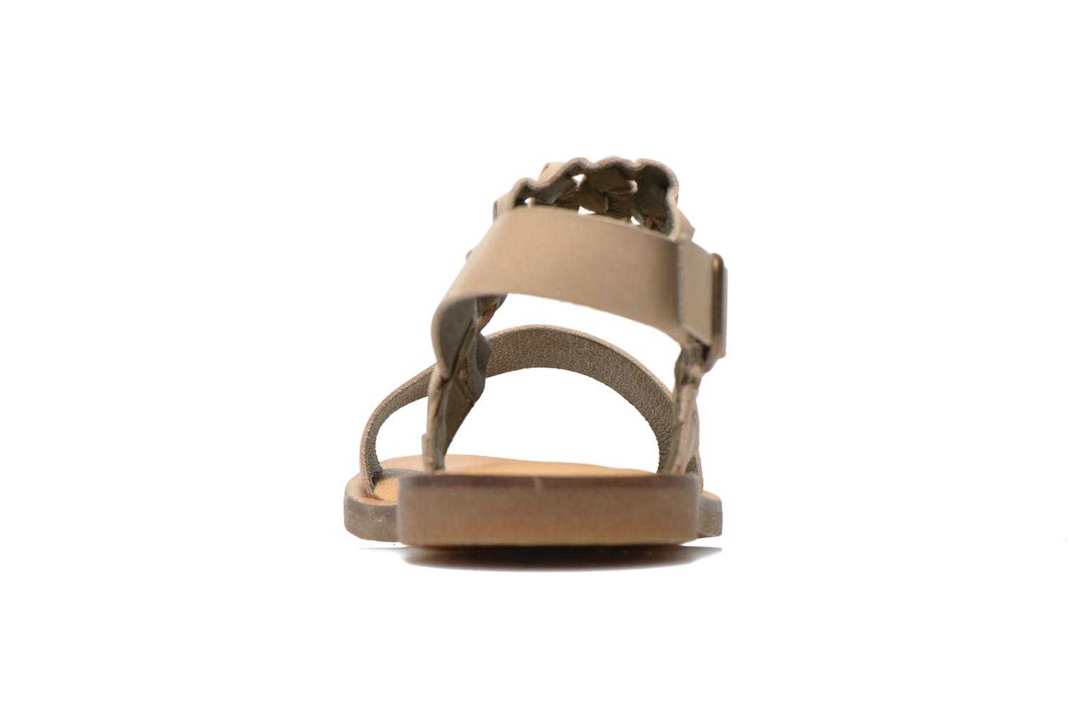 Sandals El Naturalista Tulip NF31 Beige view from the right