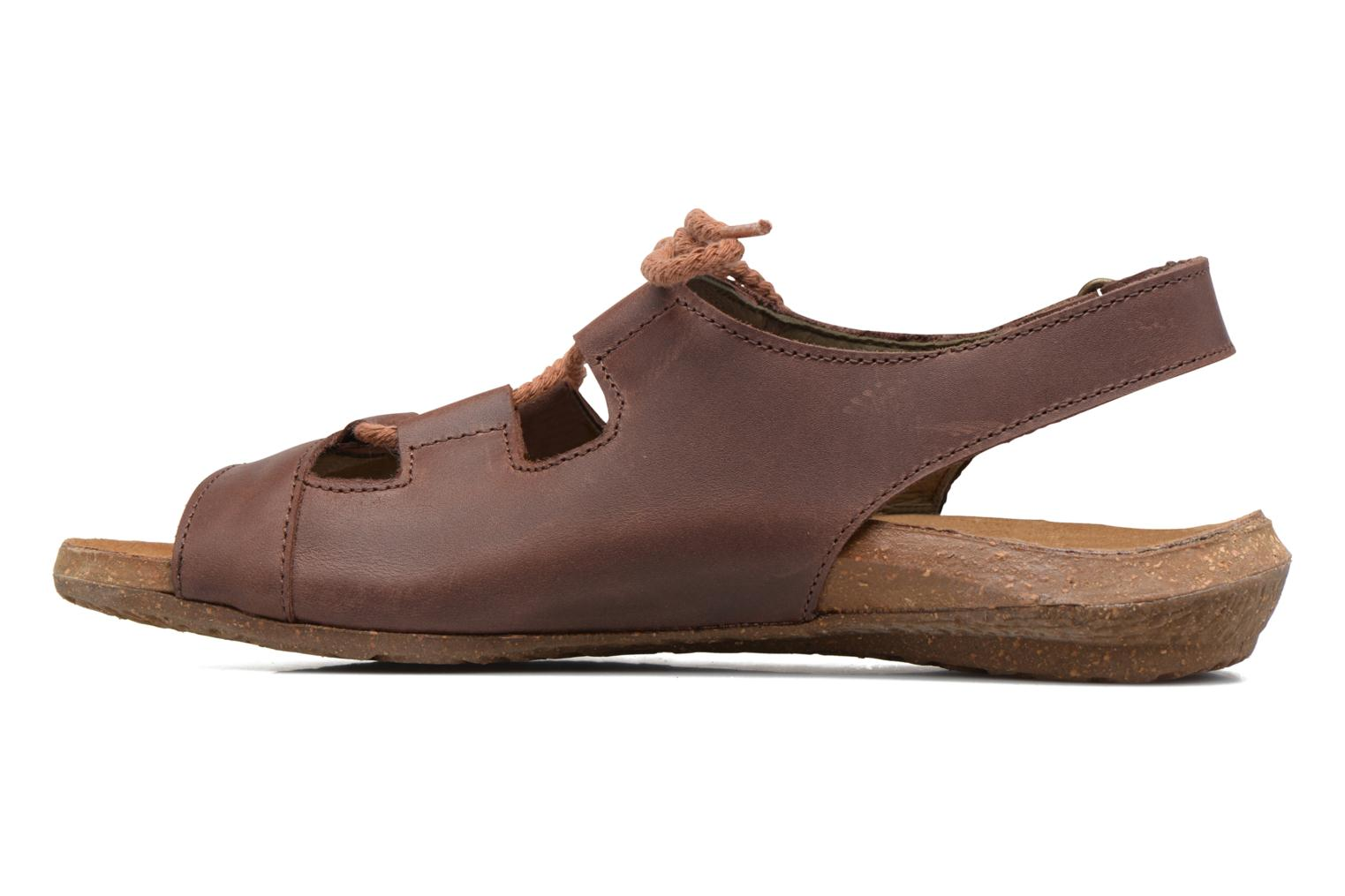 Sandals El Naturalista Wakataua ND73 Brown front view