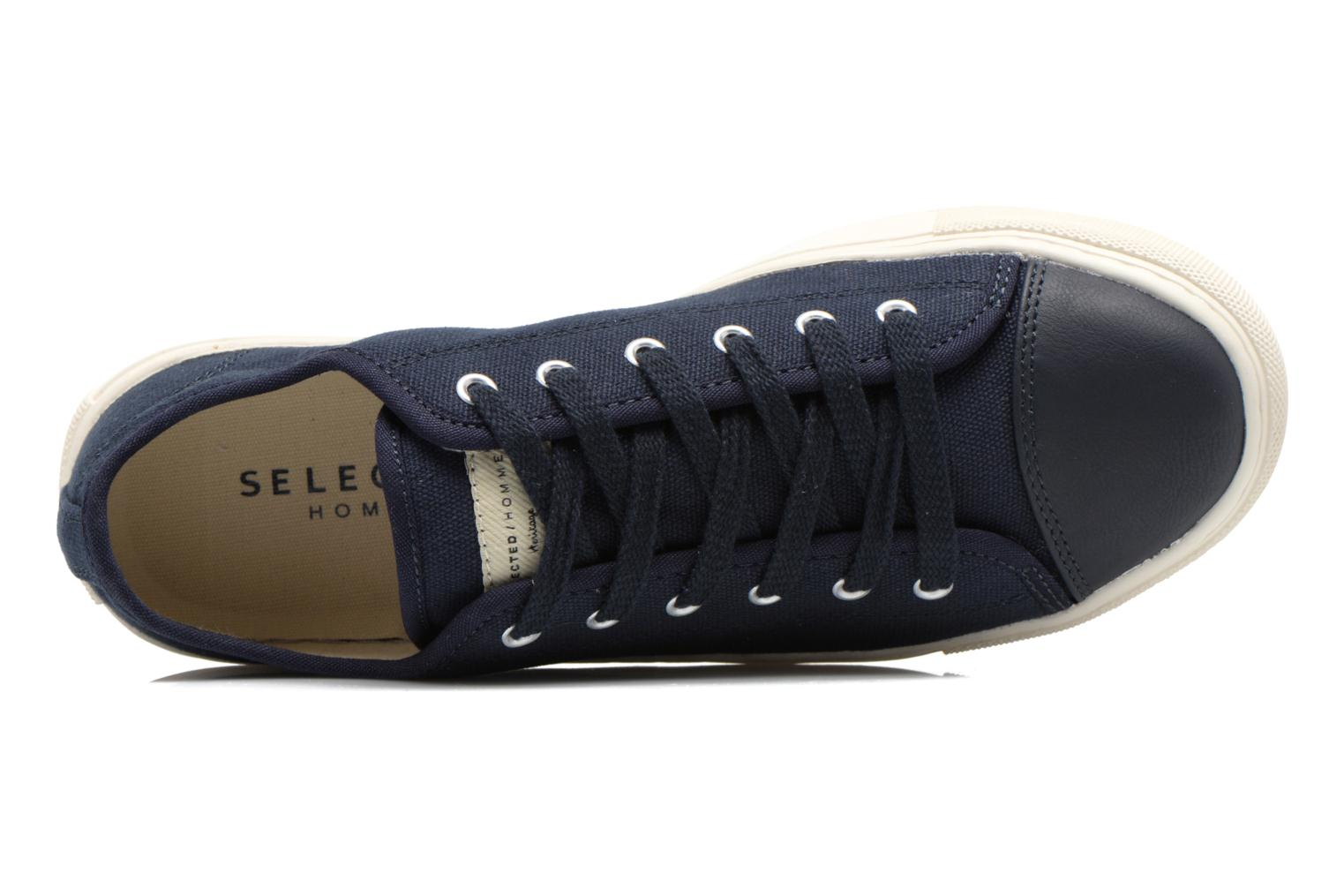 Trainers Selected Homme Sh Jean Blue view from the left